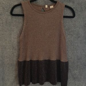 Moth Anthropologie Glitter Knit Tank